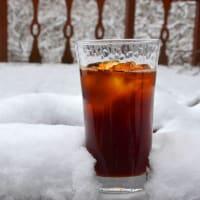 雪かきの後は、アイスコーヒーが美味い。