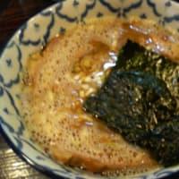 つけ麺大盛り-燻卵@兎に角-松戸