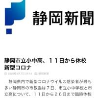 やっと静岡市でも 休校になりました。一安心。