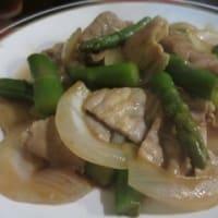 再訪「居酒屋四季」、今日の日替りは、豚肉とアスパラ炒め定食750円