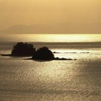 不知火海の夕景 広域農道にて