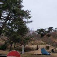 閉鎖前の大野アルプスランドでソロキャンプ