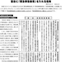 〔264〕《憲法に「緊急事態条項」を入れる危険》塚越敏雄さんの緊急提言です。
