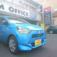 ダイハツ東京から新しいデモカーとして新車「ミライース」が届きました!