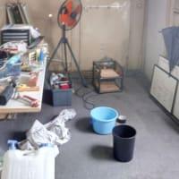 コンテナハウスの中の掃除(7月7日)
