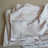 塩沢附下表・縞紬表解き済み 洗い張り 正絹素材