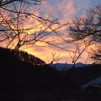 寒空の夕焼け