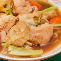 2020.09.08の朝食 鶏胸肉と野菜の煮込み(ポン酢風味)