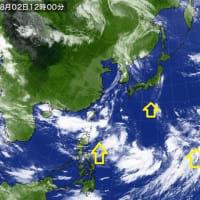 台風のたまごが多い8月のはじまり…(-_-)ウーム  猛暑ですね…