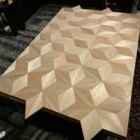 テーブル天板製作中