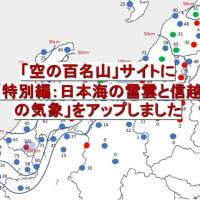 「特別編 日本海の雪雲と信越の気象」アップのお知らせ