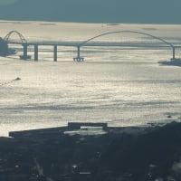 鞆の浦や福山市街、内海大橋まで、グリーンラインから見下ろす風景、これ福山の観光財産ですね。