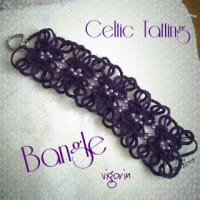 Tattingレシピ:celtic tattingでbangleを作る。