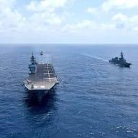 ☆海上自衛隊とインド海軍との共同訓練JIMEX2020の様子