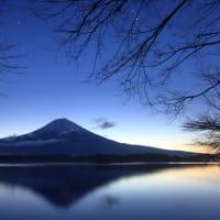 田貫湖の夜明け
