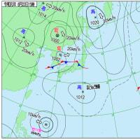 8月22日 アメダスと天気図。