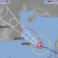 台風18号(最後)