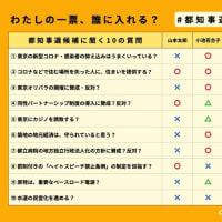 東京都知事候補に聞く10の質問とその回答