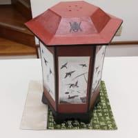 2020年韓紙工芸展示即売会 作品ご紹介(3)鳥がいるランプ