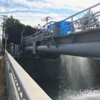 水管橋で漏水