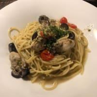 牡蠣とオリーブ ケイパーのスパゲティ