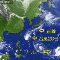 台風20号は?…そして台風21号になるたまご?…σ( ̄、 ̄=)ンート・・・