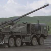 ☆新型の19式装輪自走155mmりゅう弾砲を見る