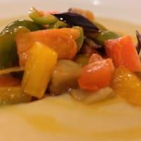 乾燥そら豆と野菜のスープ