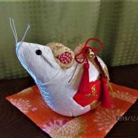シクラメン:木目込みの干支 ネズミ