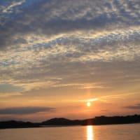 木曽川の夕焼け