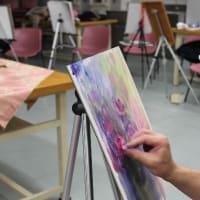 「水彩とパステルの混合技法ワークショップに参加する♪」