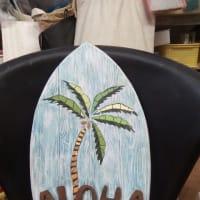 中学生教室とハワイアン雑貨風味のサインボード