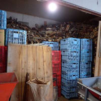 この冬の薪の運搬がやっと終了