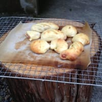 石窯でパン作り