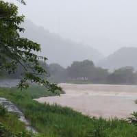 瀬戸川増水中