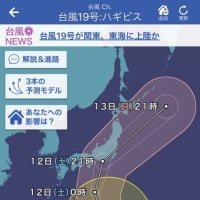 何かと台風に・・・。