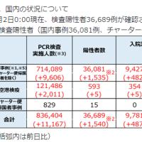 3日感染+1331入院10783(+1002)重症87(+4)死亡1012(+1)/都+258入院1365(+50)調整中957重症15死亡333東京ルール40.3件/中央区241(+3)