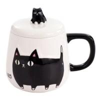 猫3兄弟のフタ付きマグカップ