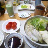 水炊きで朝ごはん♪野菜がたくさん食べられていいですね。