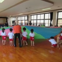 年中組 スカーレット組のパラバルーン練習