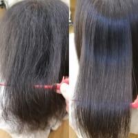 特殊な形状の大変おクセの強い方の縮毛矯正