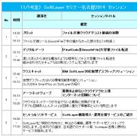 11/14 SoftLayerセミナー名古屋2014にてプレゼンします