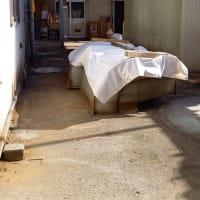 当社本社工場、集塵バグフィルター設置場所