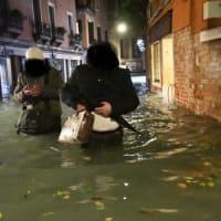 2019/11/12 ベネチア 水害 アクアアルタ 187cm 非常事態宣言