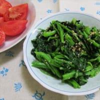 4/20スナップエンドウと豚バラの炒め物で夕ご飯