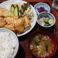 栄食堂 鳥から揚げ定食@上田市