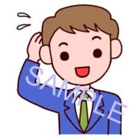 男性・表情3/社員/販売・ビジネスのイラスト