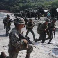 ☆フィリピンの海を蹂躙する中国船団や水陸機動団と比軍との演習画像など