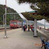 韓国海列車の車窓から