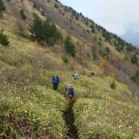 【2016年10月29~30日  鹿沢PV】秋の意見交換会と湯の丸山・烏帽子岳調査その3